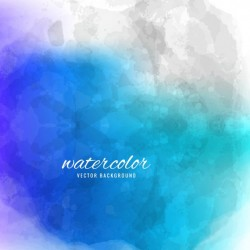 Blue watercolor background with abstract shapes Vector   Free Download