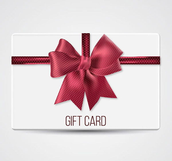 Bow decoration gift cards