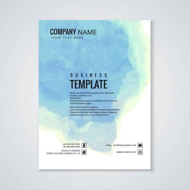 Brochure, sky watercolor