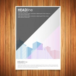 Brochure with soft geometric shapes Vector