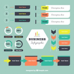 Business infographic elements in flat design