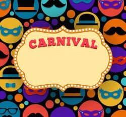 Carnival vector text background
