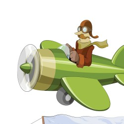 Cartoon aircraft design creative vector