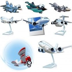 Cartoon airplane vector pictures