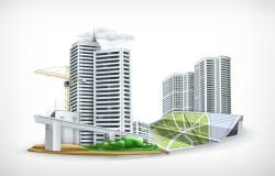 Cartoon city tower vector