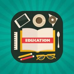 Cartoon education element vector illustration