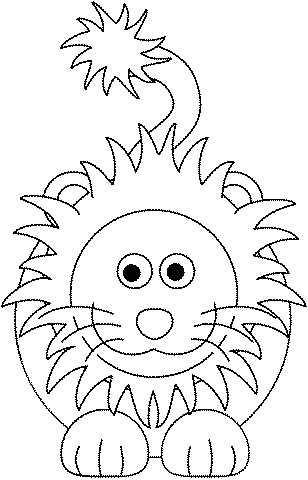 Cartoon Lion coloring page | Free Printable Coloring Pages