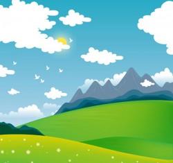 Cartoon outskirts scenery