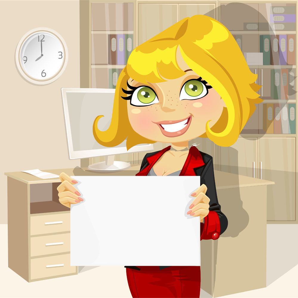 Cartoon professional women vector