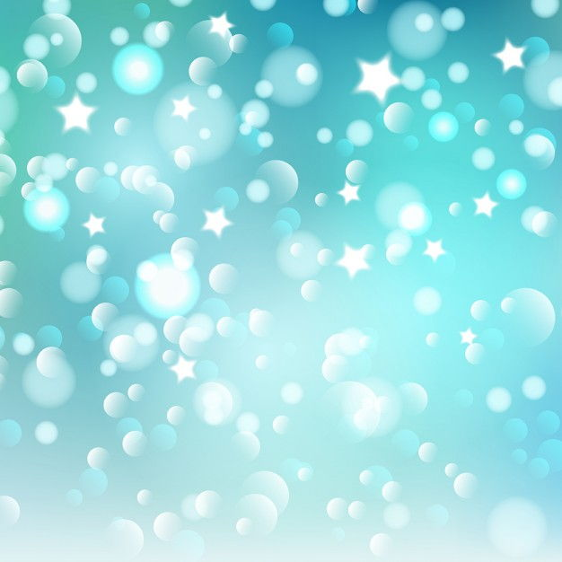 Christmas background of bokeh lights and stars Vector | Free Download