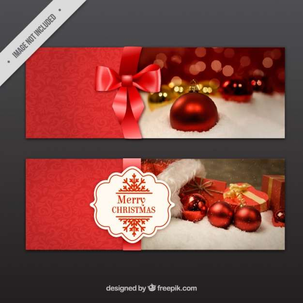 Christmas banner templates Vector   Premium Download