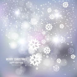Christmas, blurred white background