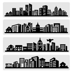 City silhouette illustration