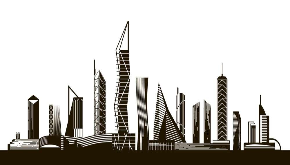 City skyscrapers vector