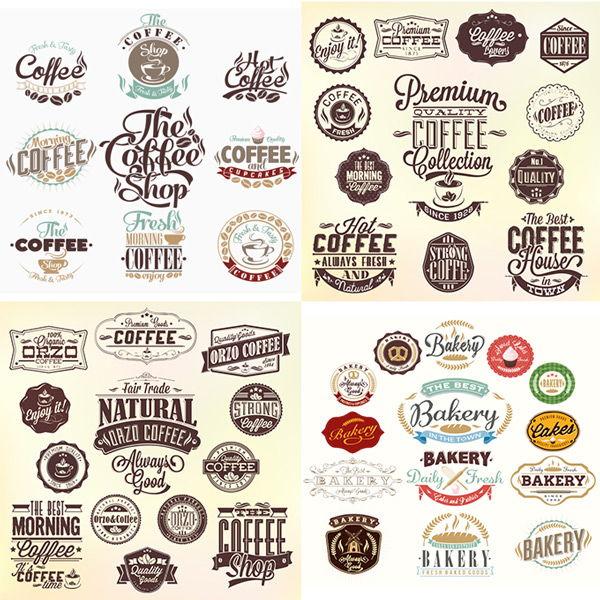 Classic coffee label vector