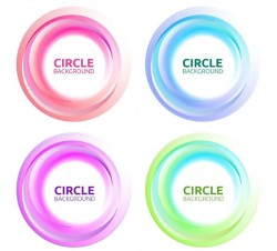 Color circle background vector
