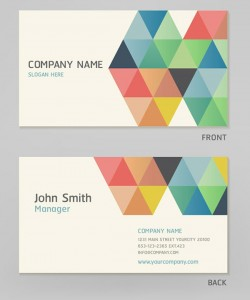 Color personalized box business card vector pictures
