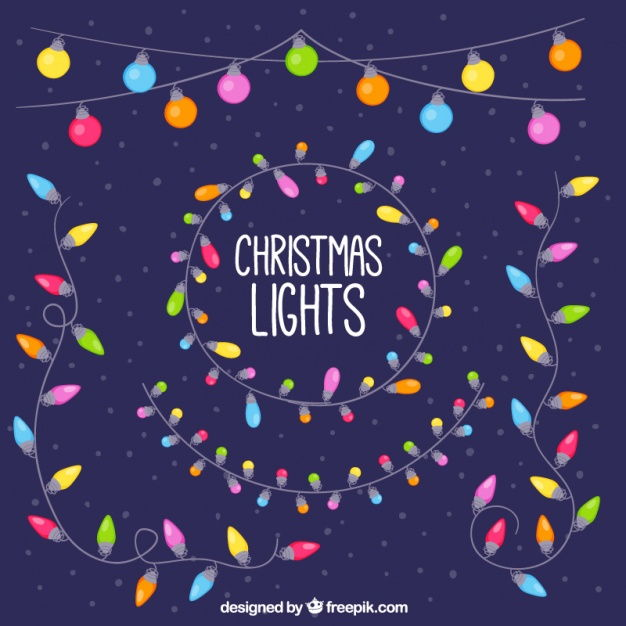 Colored decorative christmas lights