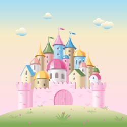 Colored kids castles