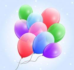 Colorful balloons vector pictures
