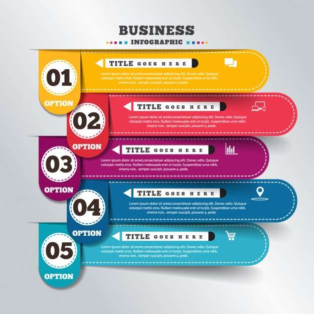 Colorful banners for infographics