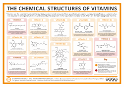 The Chemical Structures of Vitamins
