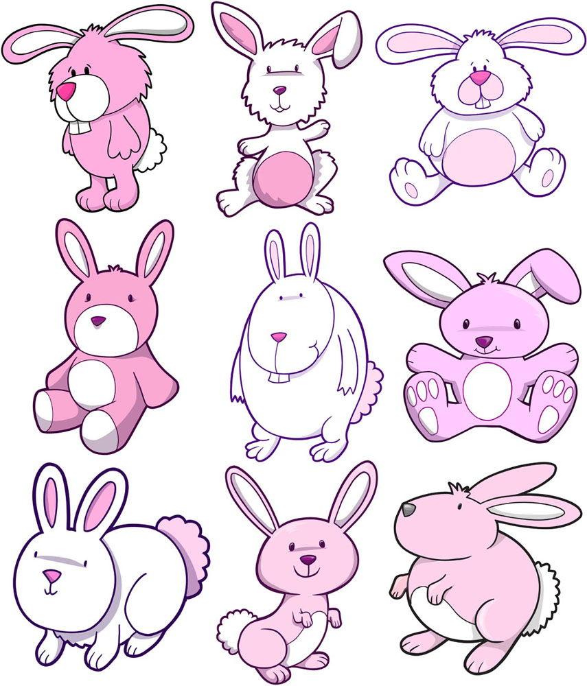 Creative cartoon rabbit design vector