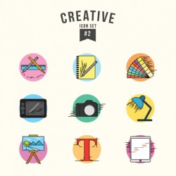 Creative icons set Vector | Free Download