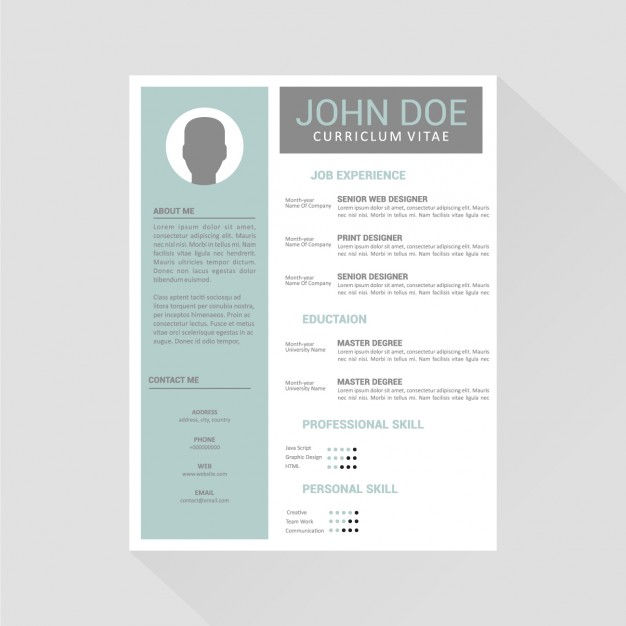curriculum vitae template design vector free download epin