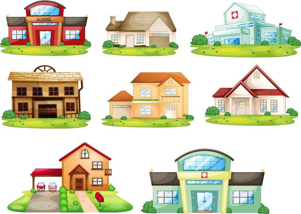 Cute cartoon house vector