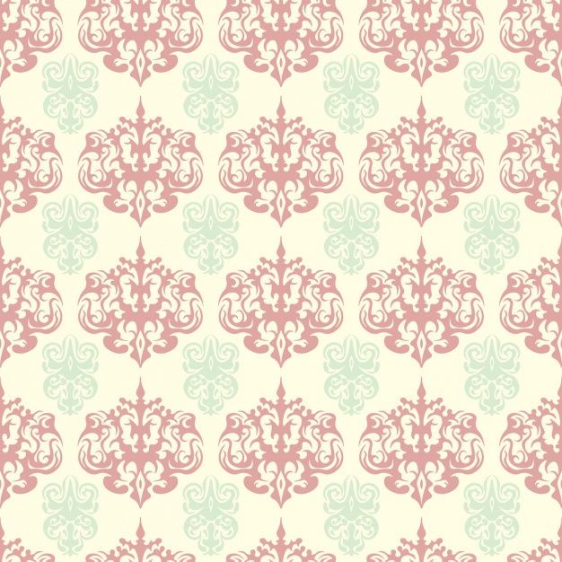 Cute damask seamless pattern