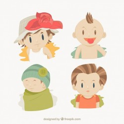 Cute hand drawn children