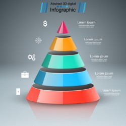 3d colored infographic vector