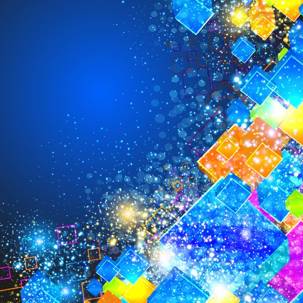 3D cube modern vector background 02