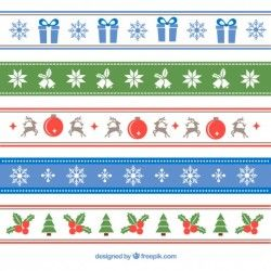 Decorative christmas borders