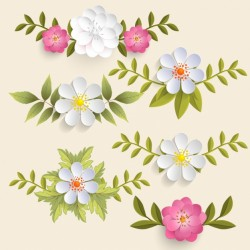 Decorative floral elements Vector | Premium Download