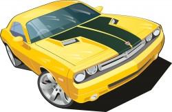 Dodge sedan vector