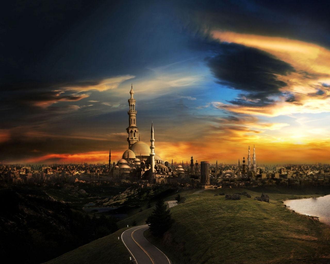 Mosque City Wallpaper