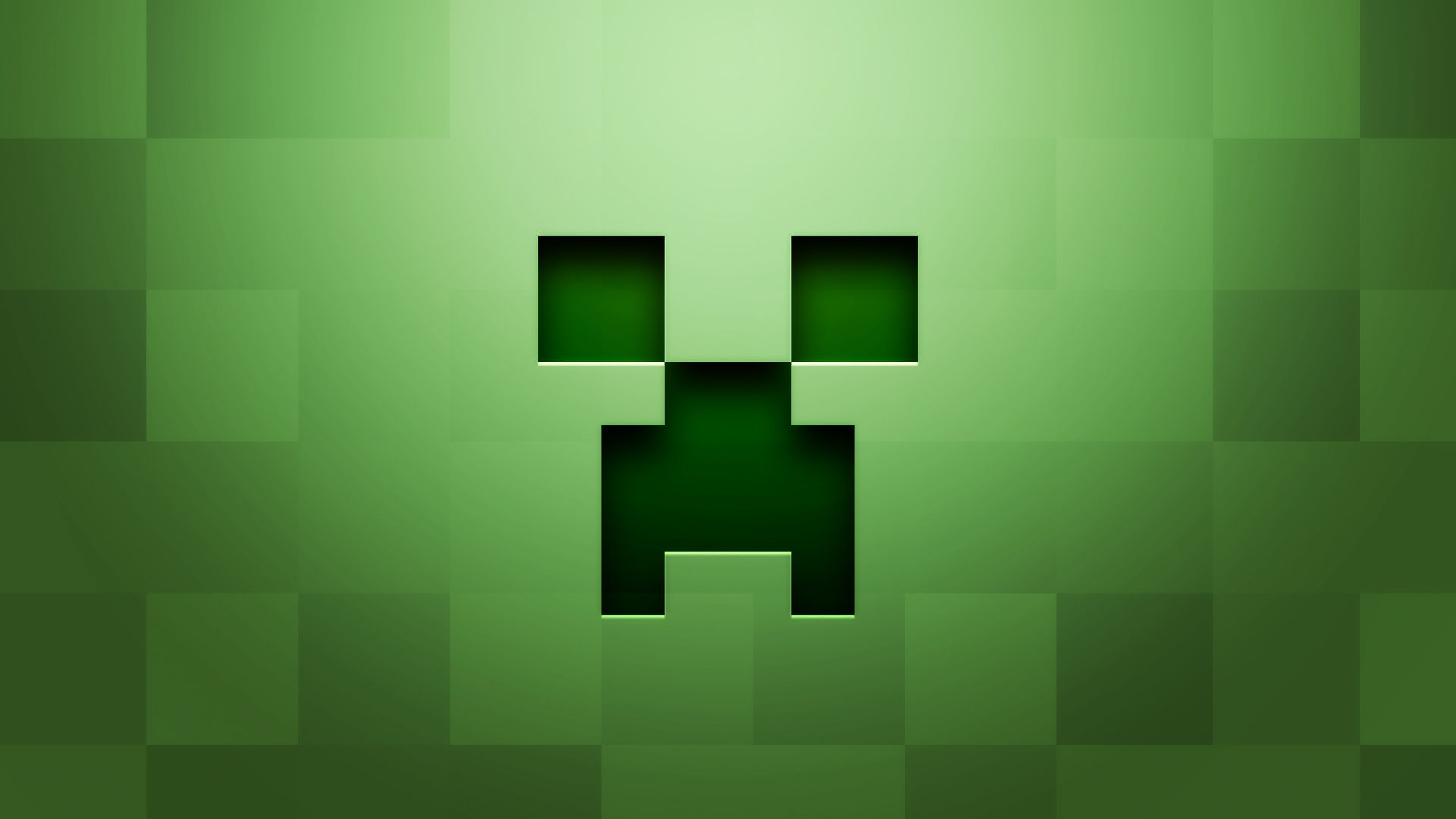 Minecraft Background Green Wallpaper