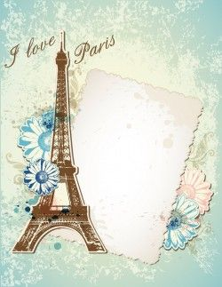 Eiffel Tower Valentine's Day cards vector