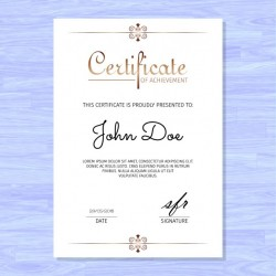 Elegant certificate, golden ornaments