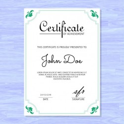 Elegant certificate, purple background