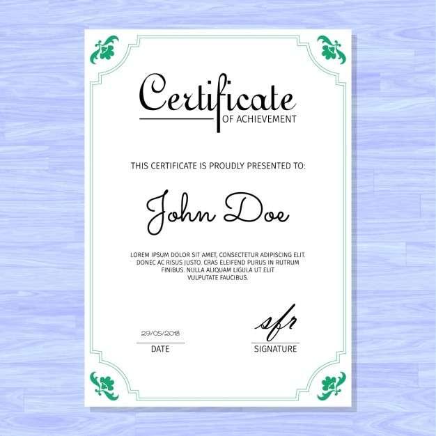 Elegant certificate, purple background