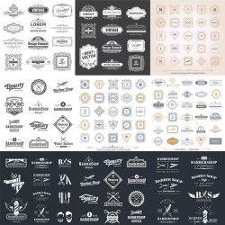European pattern label vector