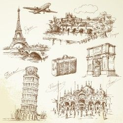 European Travel sketch element
