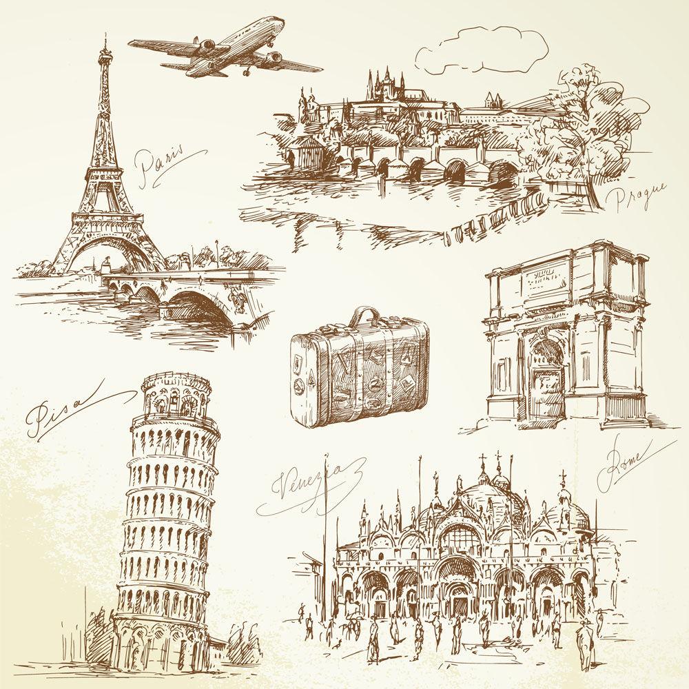 European Travel sketch element