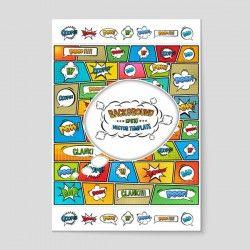 Explosion Dialog decorative vector pictures