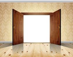 Exquisite wooden doors design vector 03