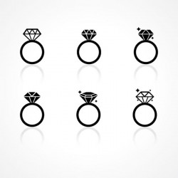 Fashion ring vector pictures