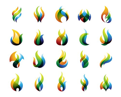 Fire colored logos